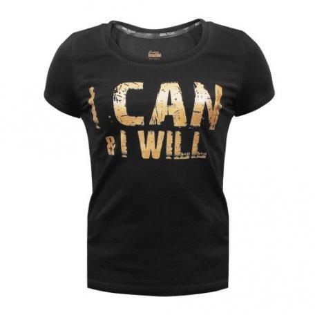 "Beltor T-shirt Damski Slim ""I CAN & I WILL"""