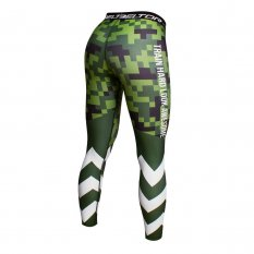 BELTOR BW LEGGINSY DAMSKIE LADIES LEGGINGS PIXEL MORO