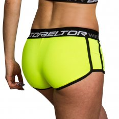 BELTOR BW SPODENKI DAMSKIE WOMEN'S COMPRES SHORTS  YELLOW  NEON 01