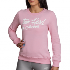 BELTOR BW BLUZA DAMSKA CREWNECK TRAIN HARD LOOK AWESOME PINK