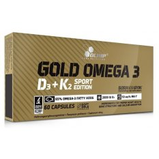 OLIMP GOLD OMEGA 3  D3+K2 SPORT 60 kap
