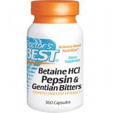 DOCTOR'S BEST BETAINE HCl PEPSIN & GENTIAN BITTERS 360 kap