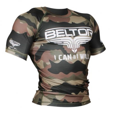 "BELTOR BW RASHGUARD SHORT SLEEVE ""ARMY"" 01"