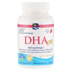 NORDIC NATURALS DHA XTRA 1660 mg STRAWBERRY 60 softgels