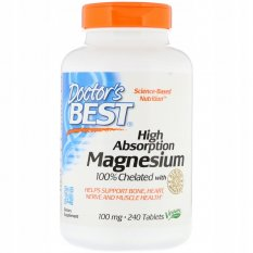 Doctor's Best High Absorption Magnesium 100mg - 240 tablets
