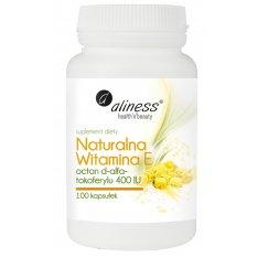 Aliness Naturalna Witamina E, 100 kapsułek