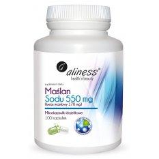 Aliness Maślan Sodu 550 mg Kwas masłowy 170 mg x 100 VEGE kaps