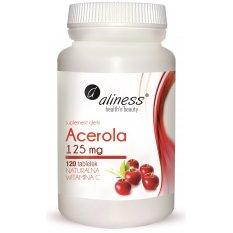 Aliness Acerola 125mg x 120 tab. Naturalna Vitamina C