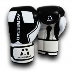 Agrestar Rękawice bokserskie ULTIMATE białe