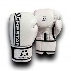 Agrestar Rękawice bokserskie COMBAT białe