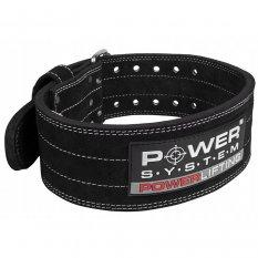 Power System Pas Kulturystyczny Powerlifting Belt Black 3800