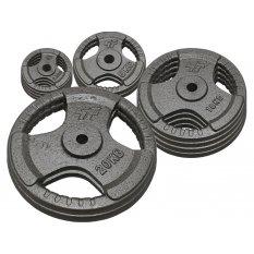 PlatinumFitness zestaw 100kg Obciążenie żeliwne 29mm