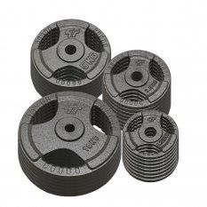 PlatinumFitness Zestaw 120kg Obciążenie żeliwne 29mm